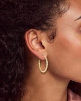 Davis Small Hoop Earrings in 18k Yellow Gold Vermeil