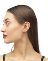 Ciera 18k Gold Vermeil Mini Stud Earring in White Topaz
