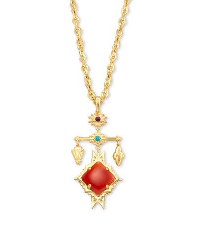 Cass Large Long Pendant Necklace