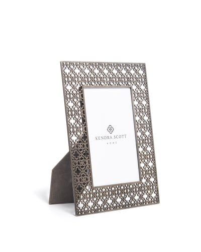 4x6 Filigree Photo Frame in Antique Silver