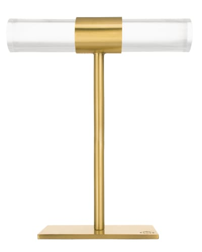 Large T-Bar Jewelry Stand in Antique Brass