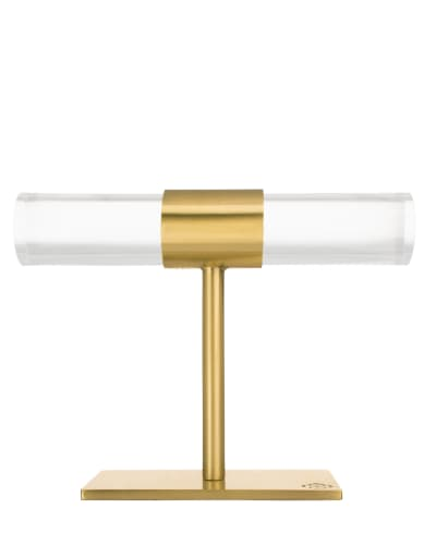 Small T-Bar Jewelry Stand in Antique Brass
