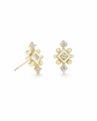 Tilda Stud Earrings in Gold