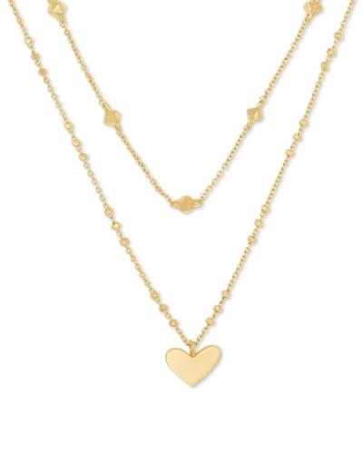 Ari Heart Multi Strand Necklace