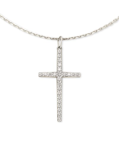 Tiny Diamond Cross Bracelet  14k Rose Gold Diamond Cross Bracelet  Diamond Cross Pendant  Mini Cross White Diamond Bracelet  Gift