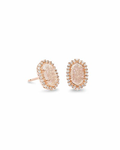 Cade Stud Earrings in Rose Gold