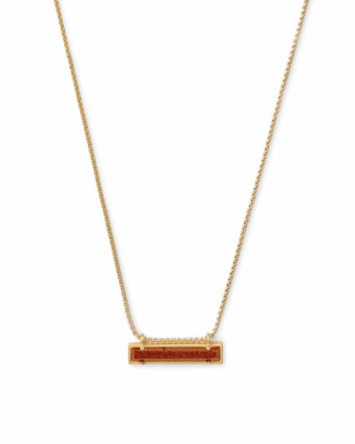 Leanor Gold Pendant Necklace In Goldstone