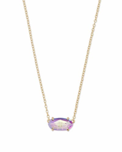 Ever Gold Pendant Necklace in Dichroic Glass