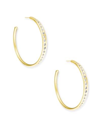 Selena Hoop Earrings in Gold