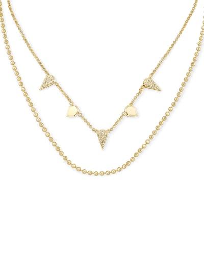 Demi Multi Strand Necklace In Gold
