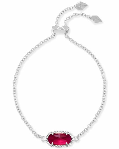 Elaina Silver Adjustable Chain Bracelet in Berry Illusion