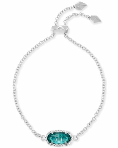 Elaina Silver Adjustable Chain Bracelet in London Blue