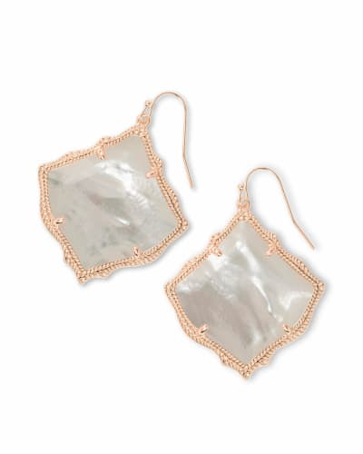 Kirsten Rose Gold Drop Earrings in Ivory Pearl