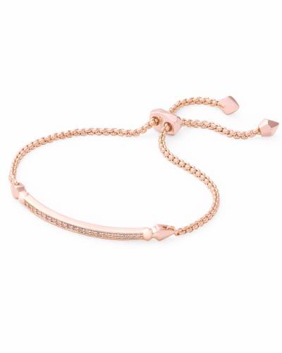 Ott Adjustable Chain Bracelet in Rose Gold