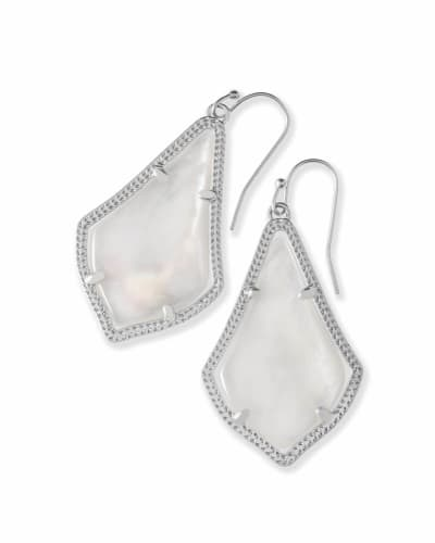Alex Silver Drop Earrings in Ivory Pearl
