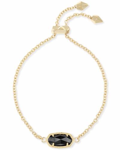 Elaina Adjustable Chain Bracelet in Black