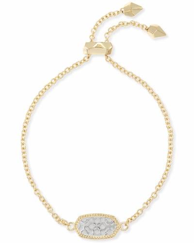 Elaina Gold Adjustable Chain Bracelet in Silver Filigree Mix