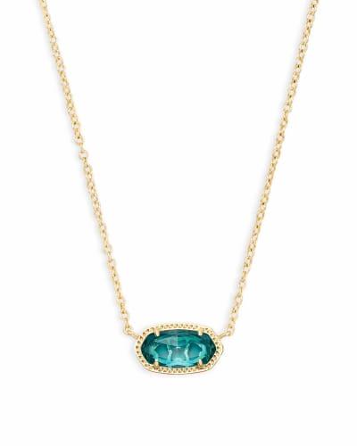 Elisa Pendant Necklace in London Blue