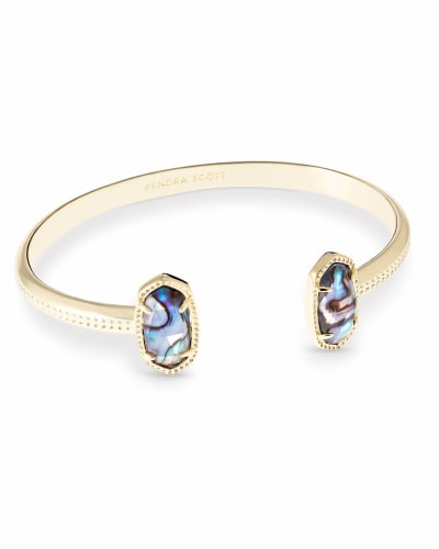 Elton Gold Cuff Bracelet in Abalone Shell