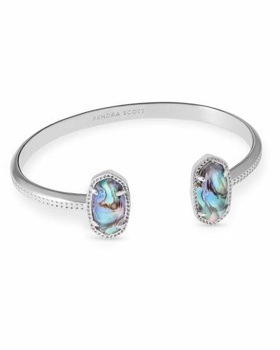 Elton Silver Cuff Bracelet in Abalone Shell