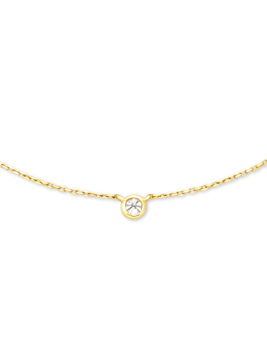 Audrey Pendant Necklace in White Diamond