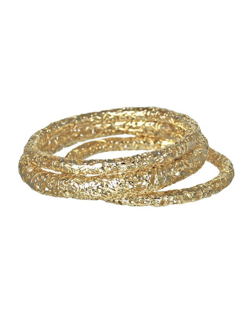 Lucca Bangle Bracelets in Gold