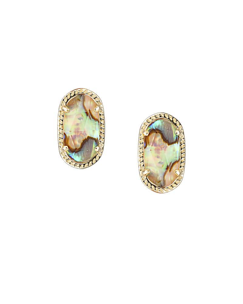 Ellie Stud Earrings in Abalone Shell