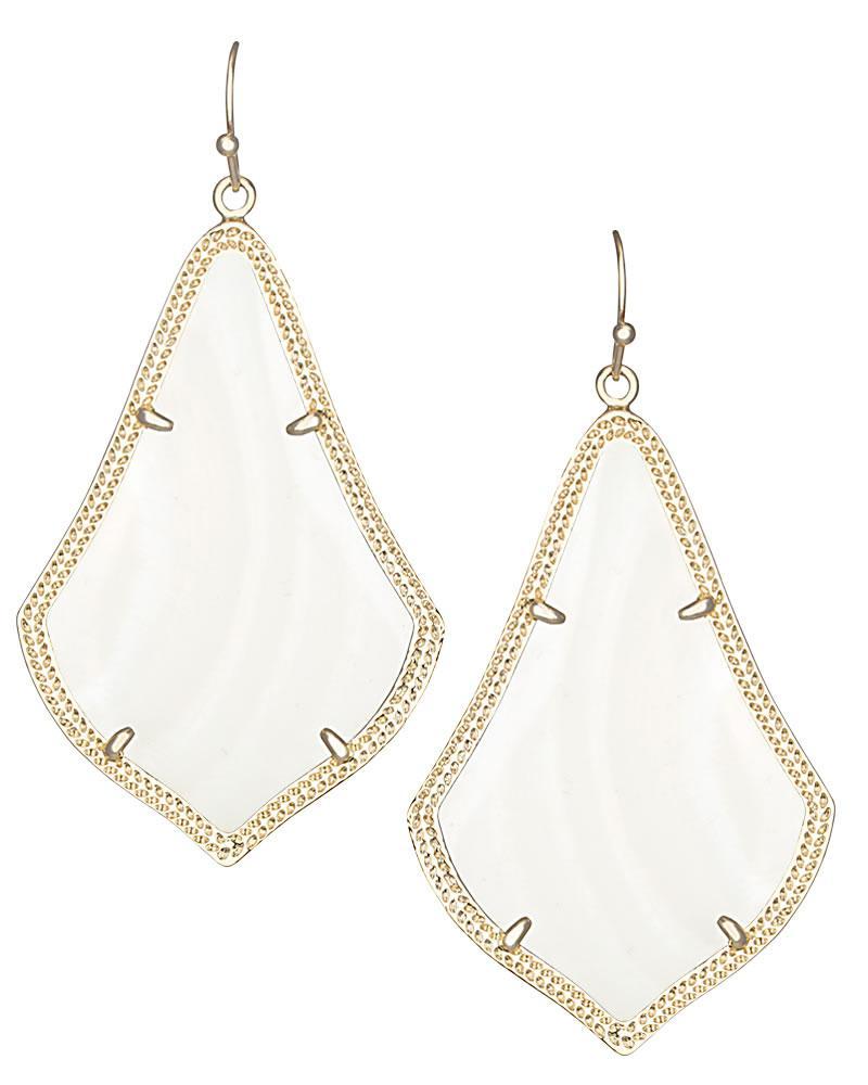 Alexandra Statement Earrings in Gold