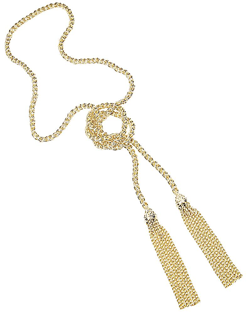 Jackie Tassel Necklace in Gold