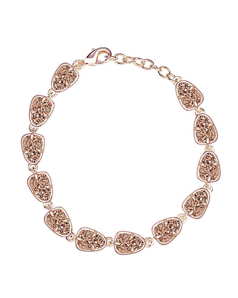 Susanna Link Bracelet in Rose Gold Drusy