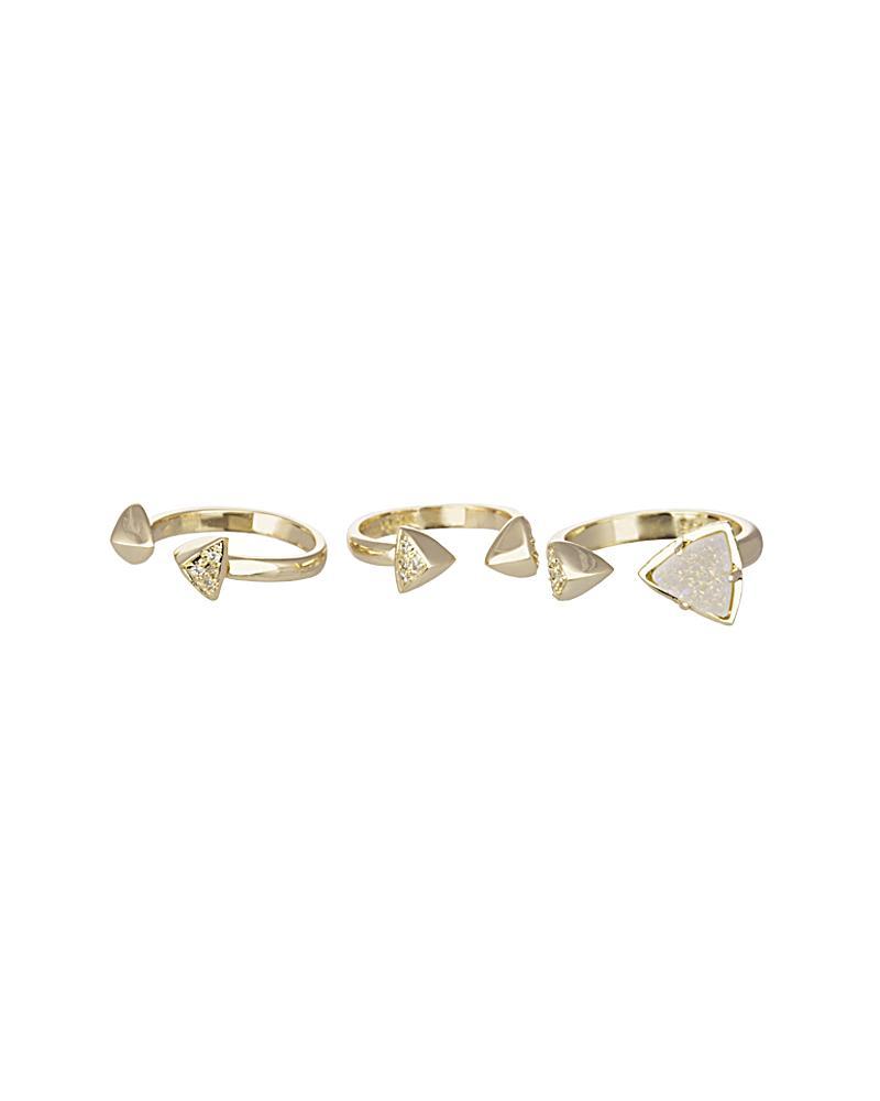 Brennan Ring Set in Gold