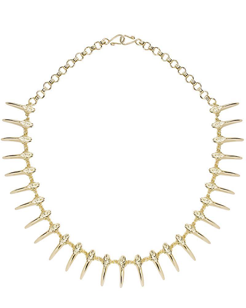 Alden Collar Necklace in Gold