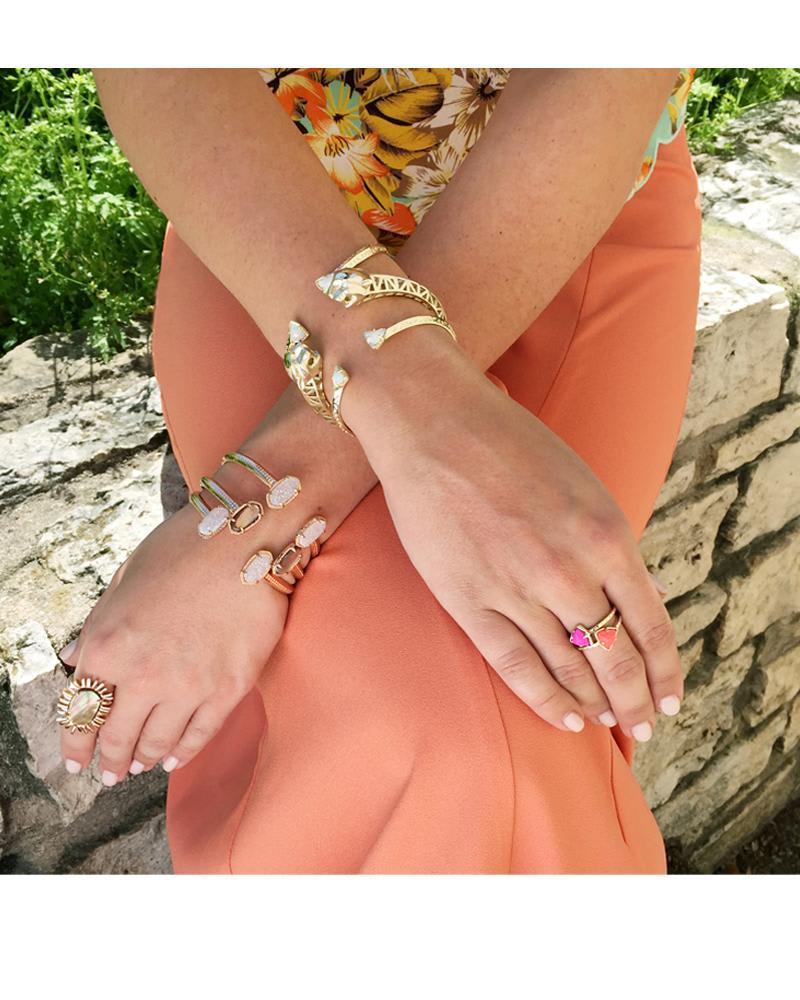 Grady Bracelet in White Iridescent