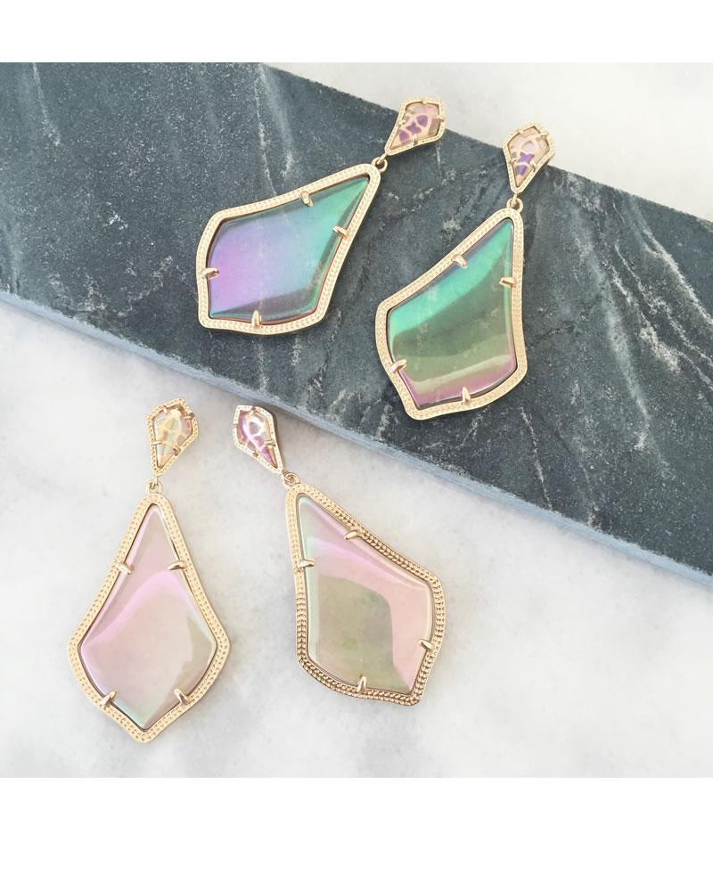 Alexis Earrings in Iridescent Peach