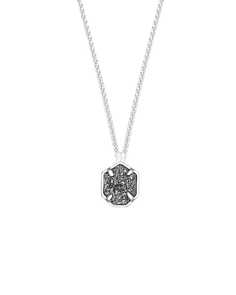 Oliver Silver Necklace in Platinum Drusy