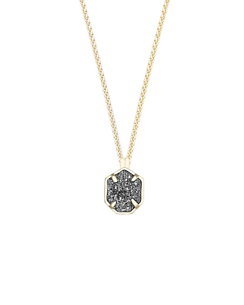 Oliver Gold Necklace in Platinum Drusy