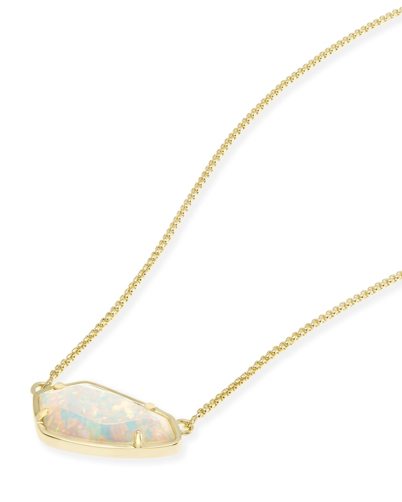 Cami Necklace in White Kyocera Opal