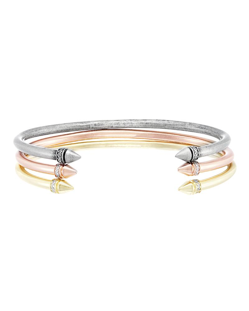 Madolyn Bangle Bracelet Set in Mixed Metals