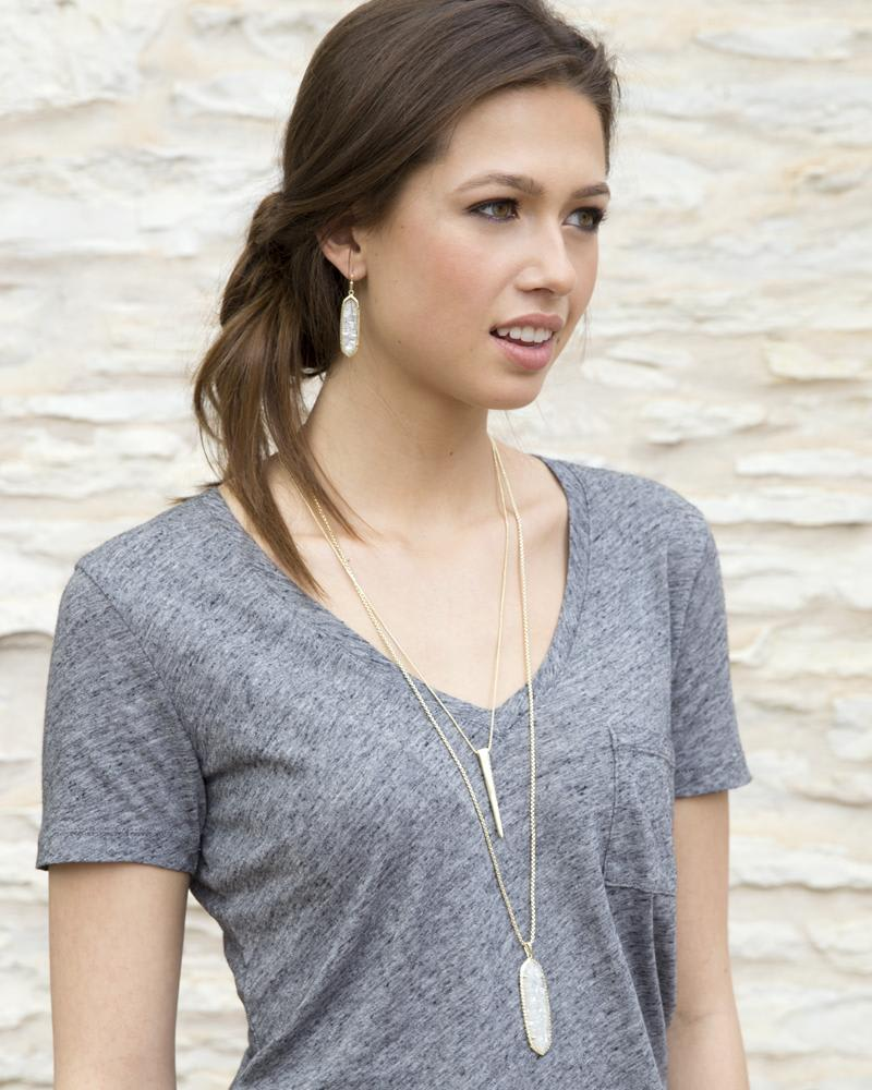 Layden Necklace in Crushed Black Pearl