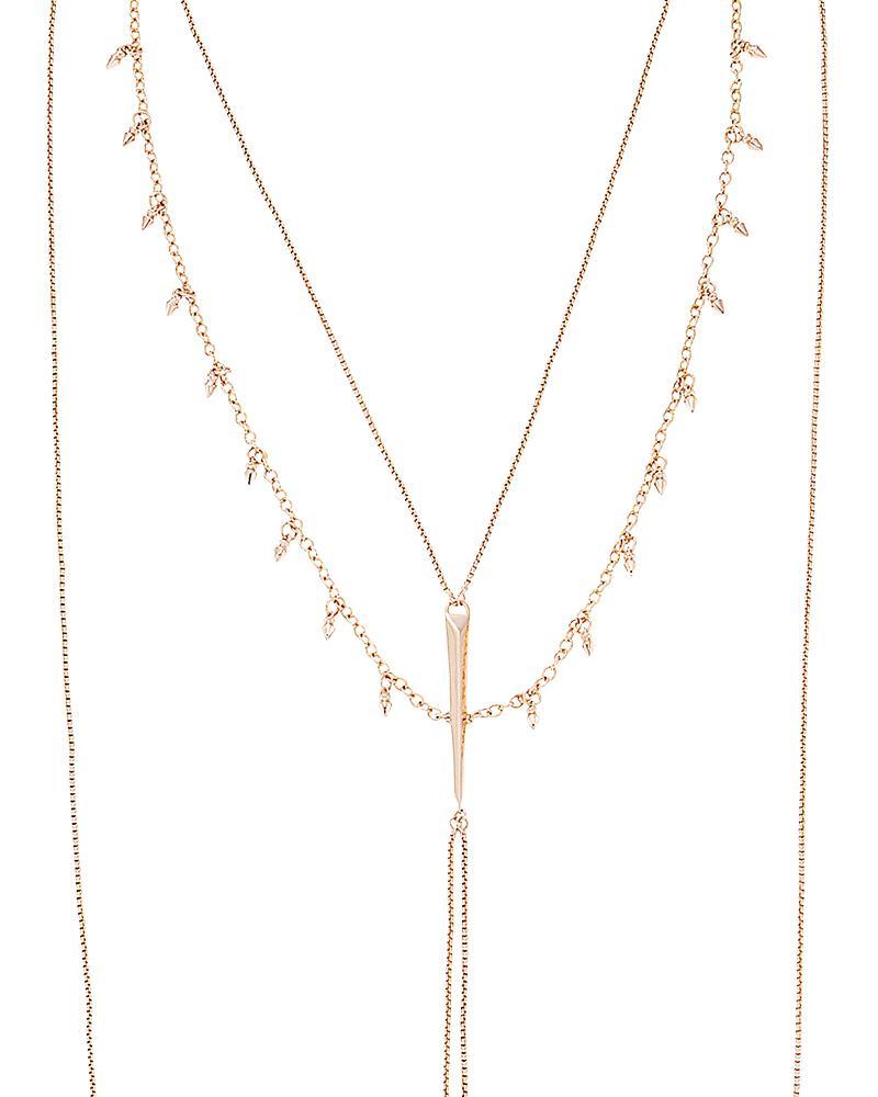Joslyn Body Chain in Rose Gold
