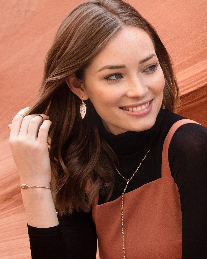 Katelyn Earrings in Gray Granite