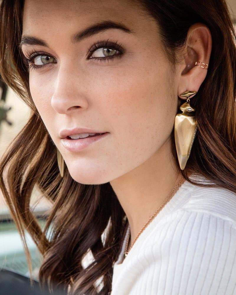 Stellar Earrings in Antique Brass