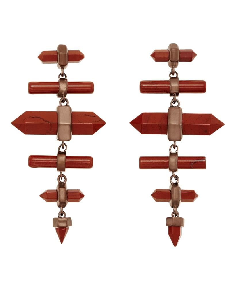 Talia Earrings in Red Jasper
