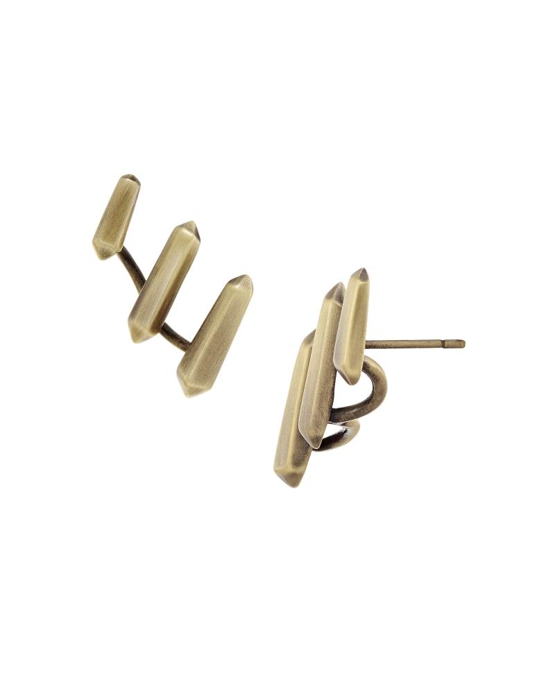 Billie Ear Climbers in Antique Brass
