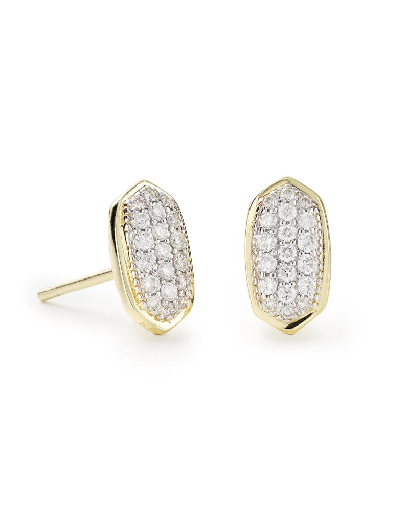 Amelee Earrings in Pave Diamond and 14k Yellow Gold