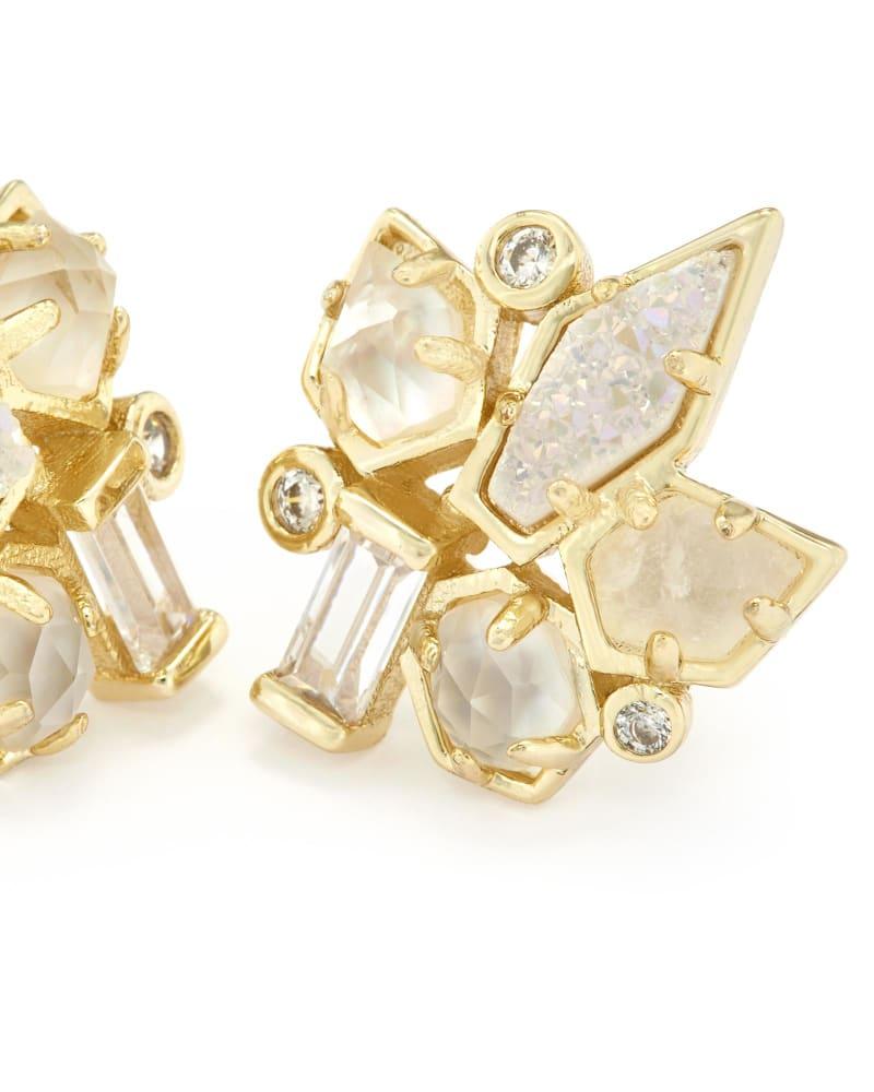 Adella Stud Earrings in Gold