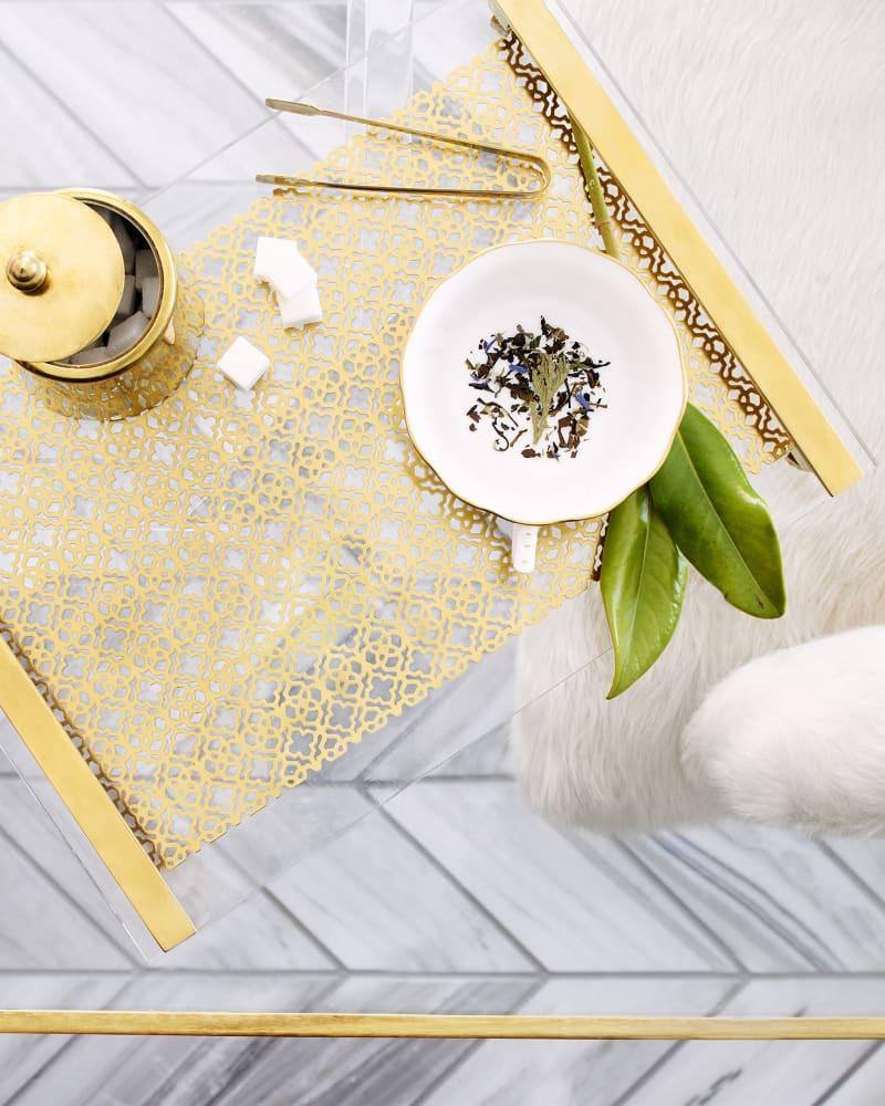 Filigree Tray in Rose Gold