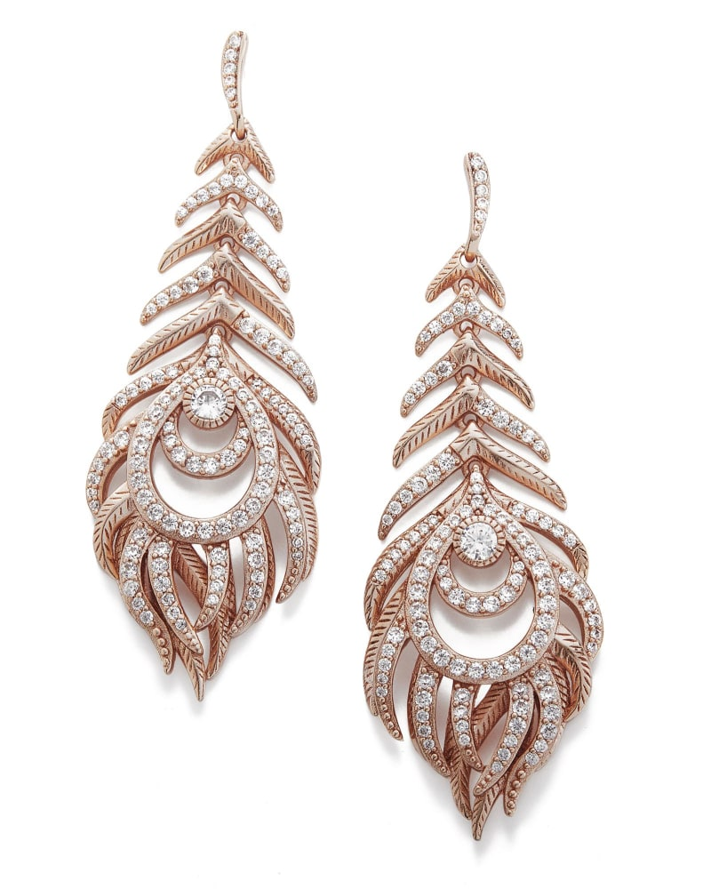 Elettra Statement Earrings in Rose Gold