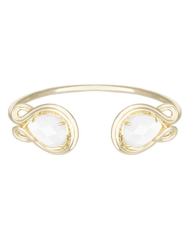Andy Gold Bracelet in White Pearl