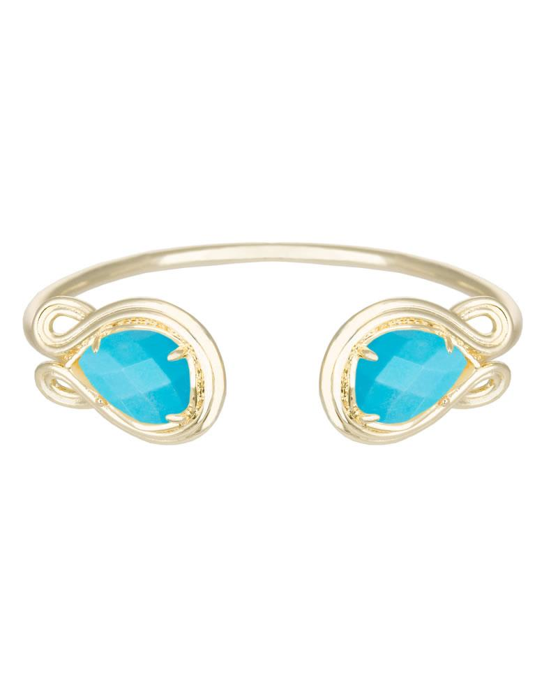 Andy Gold Bracelet in Turquoise